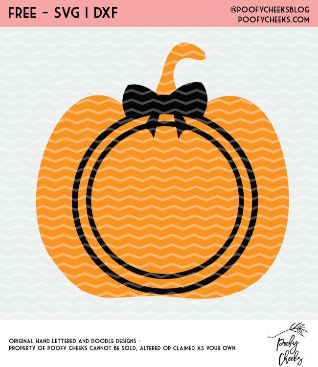 Free Halloween Pumpkin cut file for Silhouette and Cricut cutting machines. Grab loads of free cut files at PoofyCheeks.com #poofycheeks #freecutfile #cutfile #halloween