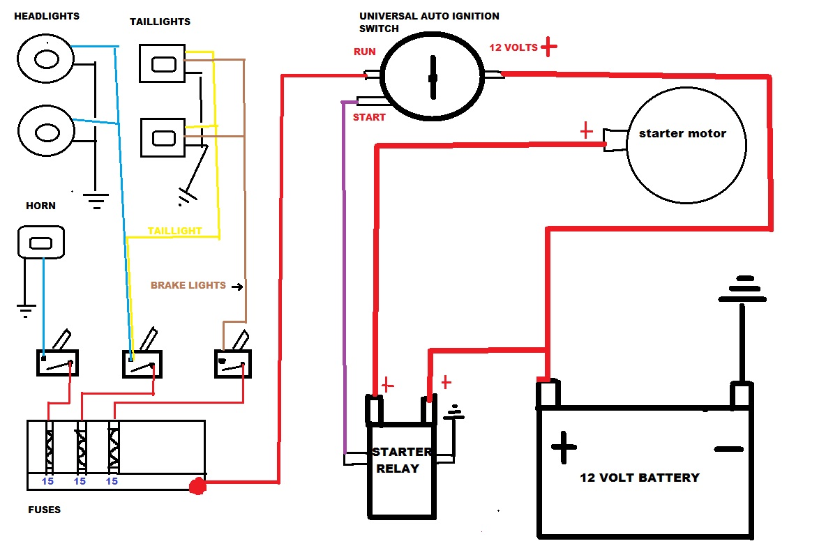 hight resolution of simple wiring diagram for lights on atv wiring diagrams pm simple atv wiring diagram