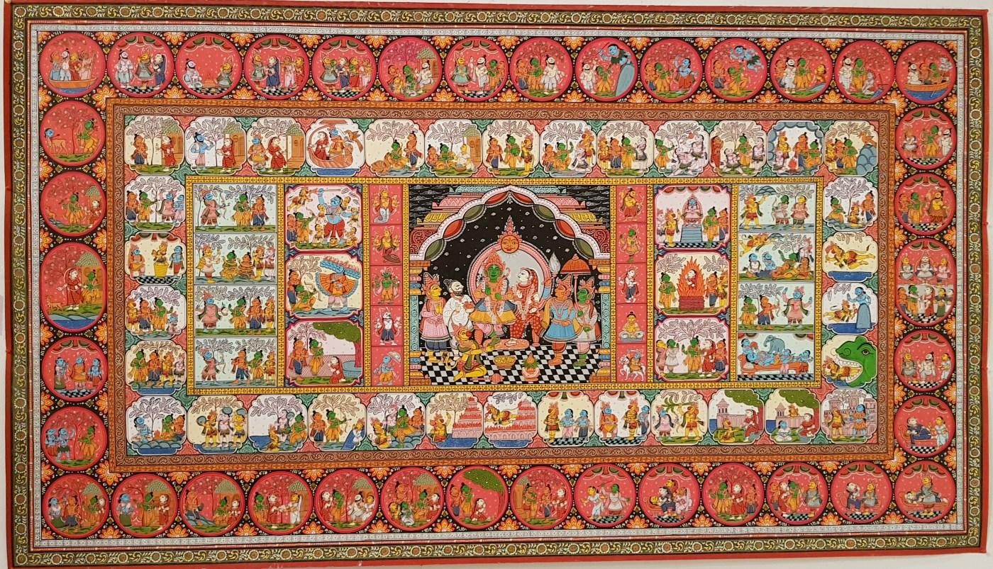 Rāmāyana - a pattachitra painting