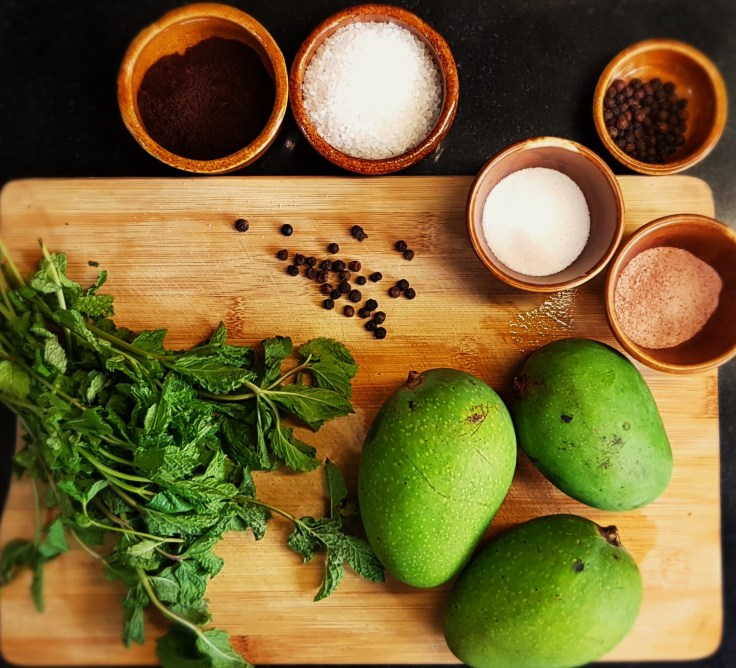 Ingredients for Aam Panna
