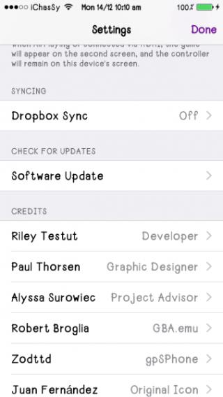 GBA4IOS Dropbox Sync