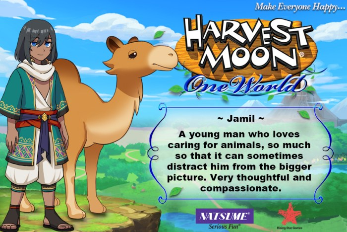 Jamin - Harvest Moon: One Wolrd