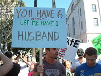 Gay marriage is not the same thing as polygamy.