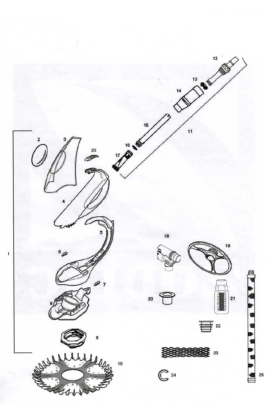 baracuda pool cleaner parts diagram wiring for a two way switched light in australia zodiac g4 spare