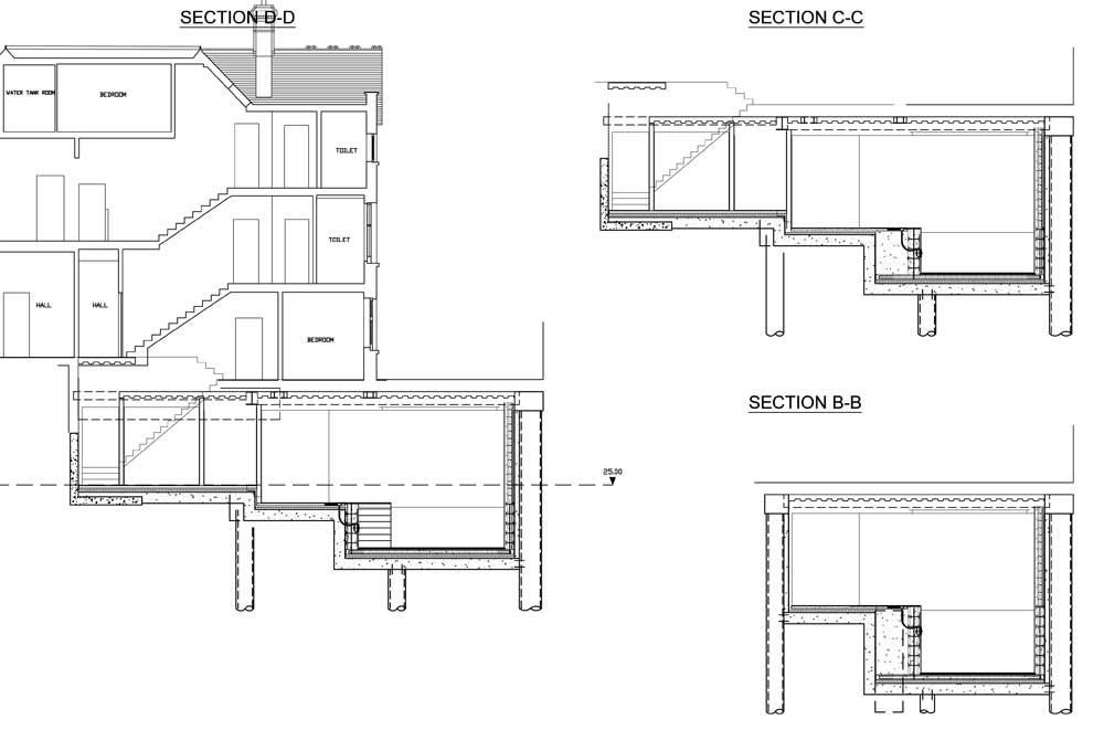 New build basement swimming pool in London