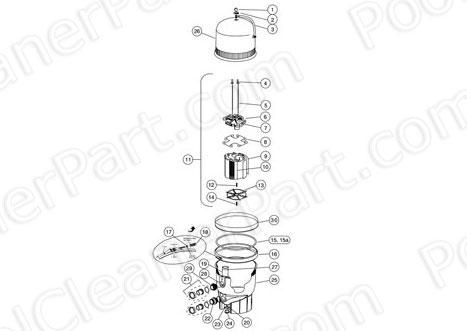 .Pentair FNS Plus Filter Diagram- Pentair FNS-Plus Filter