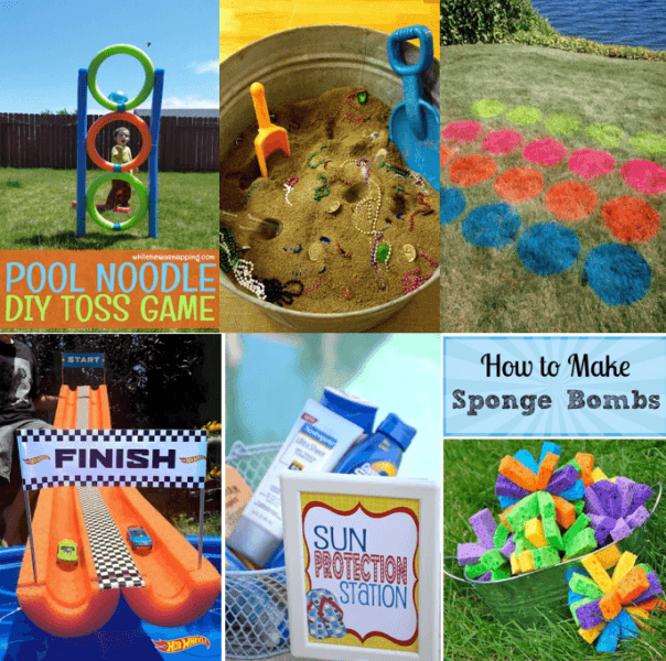 Kids pool party games and activities