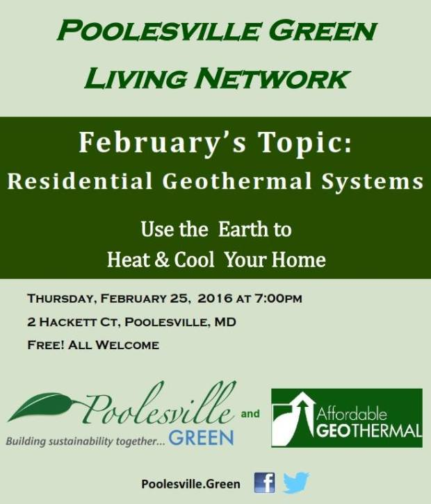 Poolesville Green‎Green Living Network - GeoThermal