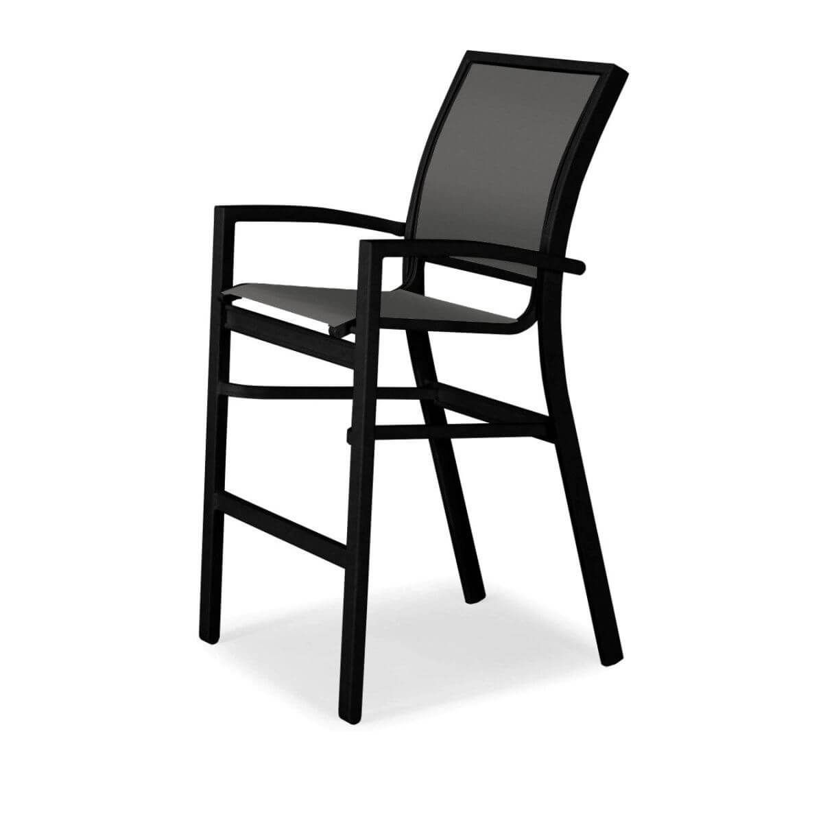 Sling Stacking Chair Kendall Sling Stacking Bar Height Stacking Café Chair With