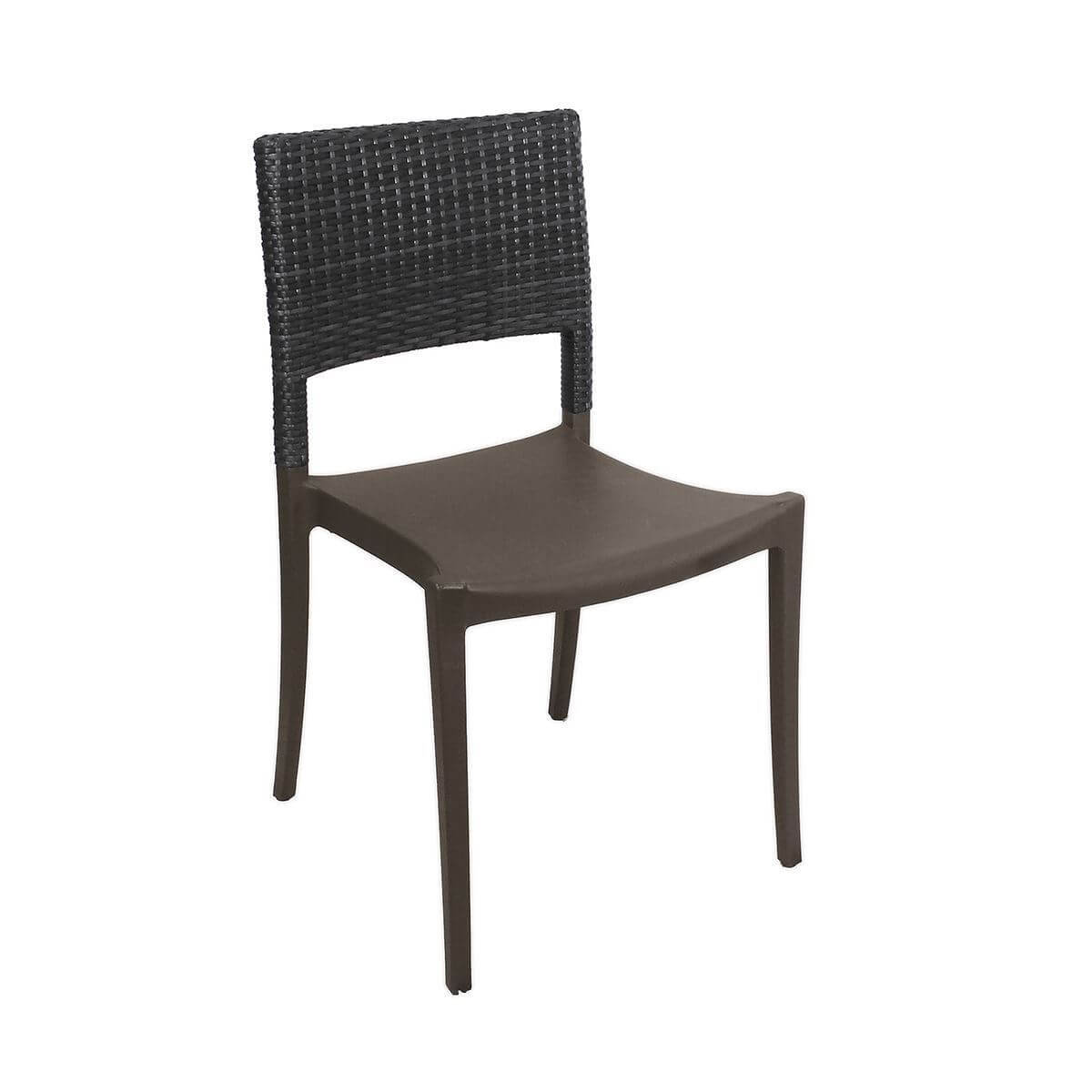 Wicker Outdoor Dining Chairs Java Stacking Outdoor Dining Chair Air Modeled Plastic With Wicker Back 10 Lbs