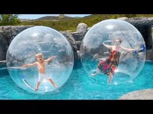Fun In Giant Bubble Ball