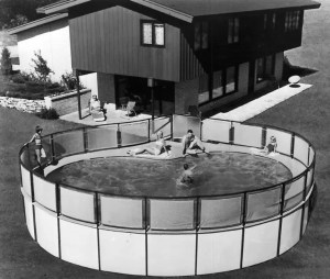 Vintage Kidney Shaped Pool