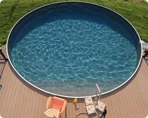 Above Ground Pool with Composite Deck
