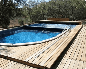 Above-Ground Pool with Automatic Cover