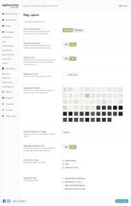 CleanApp Blog Settings