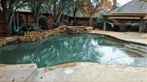 residential swimming pool in McKinney, Tx. cleaned by Executive Pool Service