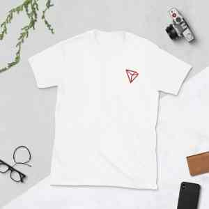 Tron Red Logo Short-Sleeve Unisex T-Shirt