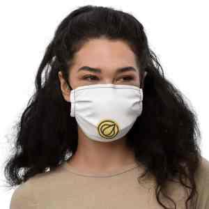 Garlicoin Logo Premium face mask