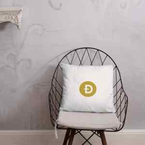 Dogecoin Logo Basic Pillow