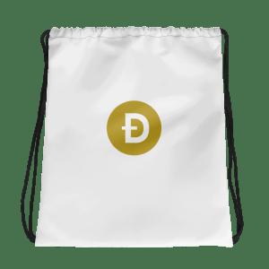 Dogecoin Logo Drawstring bag