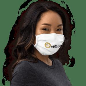 Dogecoin Premium face mask