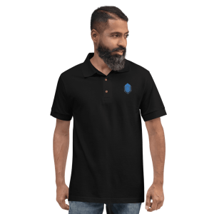 Turtle Network Logo Embroidered Polo Shirt