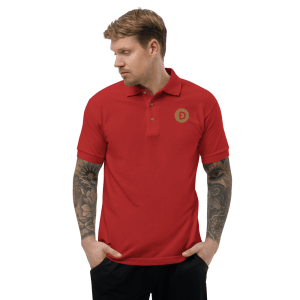 Dogecoin Embroidered Polo Shirt
