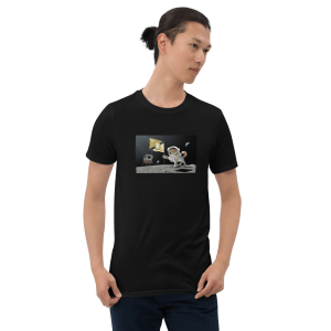 Dogocoin Moon Poster Short-Sleeve Unisex T-Shirt