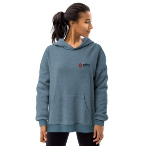 Etho Protocol Logo Unisex Sueded Fleece Hoodie