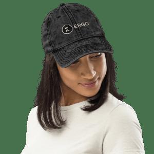 Ergo Full Logo Vintage Cotton Twill Cap