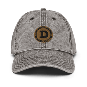 Dogecoin Collectors Vintage Cotton Twill Cap