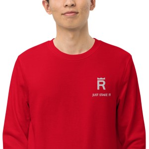 REX Just Stake It Unisex organic sweatshirt
