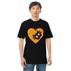 Love Bitcoin Men's premium heavyweight tee