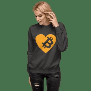 Love Bitcoin Unisex Fleece Pullover