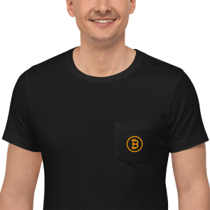 Bitcoin Logo Unisex Pocket T-Shirt