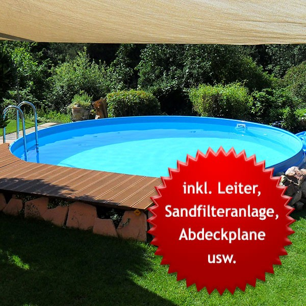 Bodensauger Pool Anleitung Pool-set Swimmingpool Visionzon Rund 4,00 X 1,44m Inkl