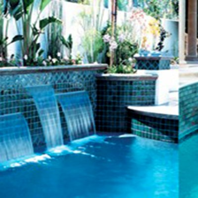 pool renovators cascade water falls