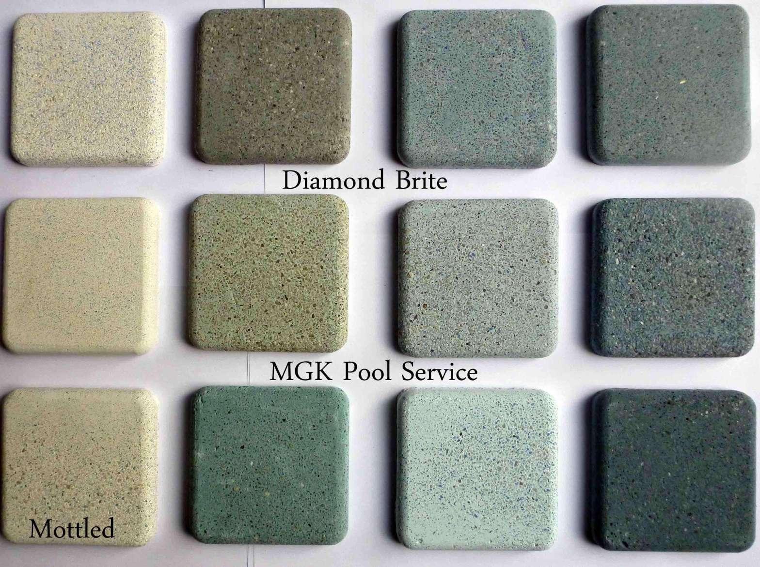 Pool Plaster Samples