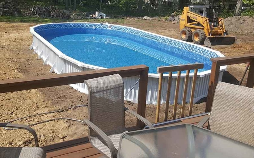 Above ground pool install installation instructions for Above ground pool setup ideas