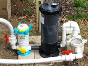 Pool filter above ground