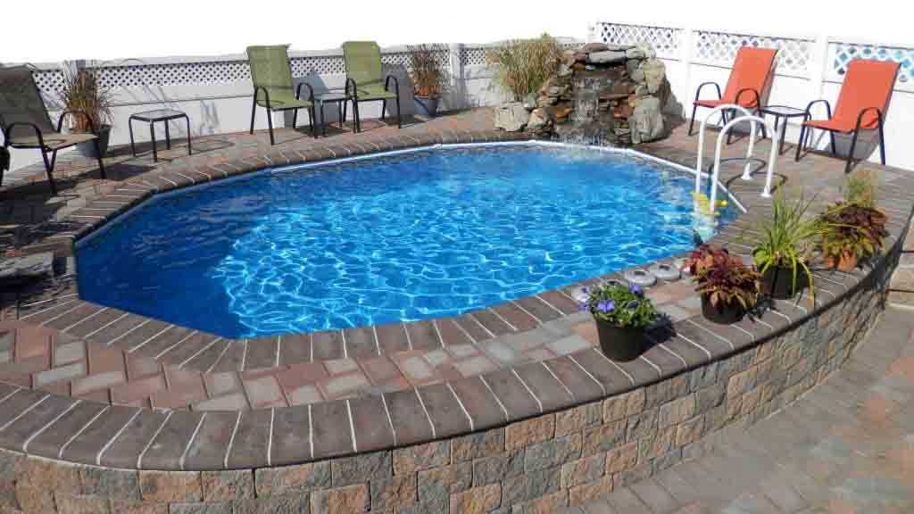 Above Ground Pool In The Ground Best Semi Inground Pools