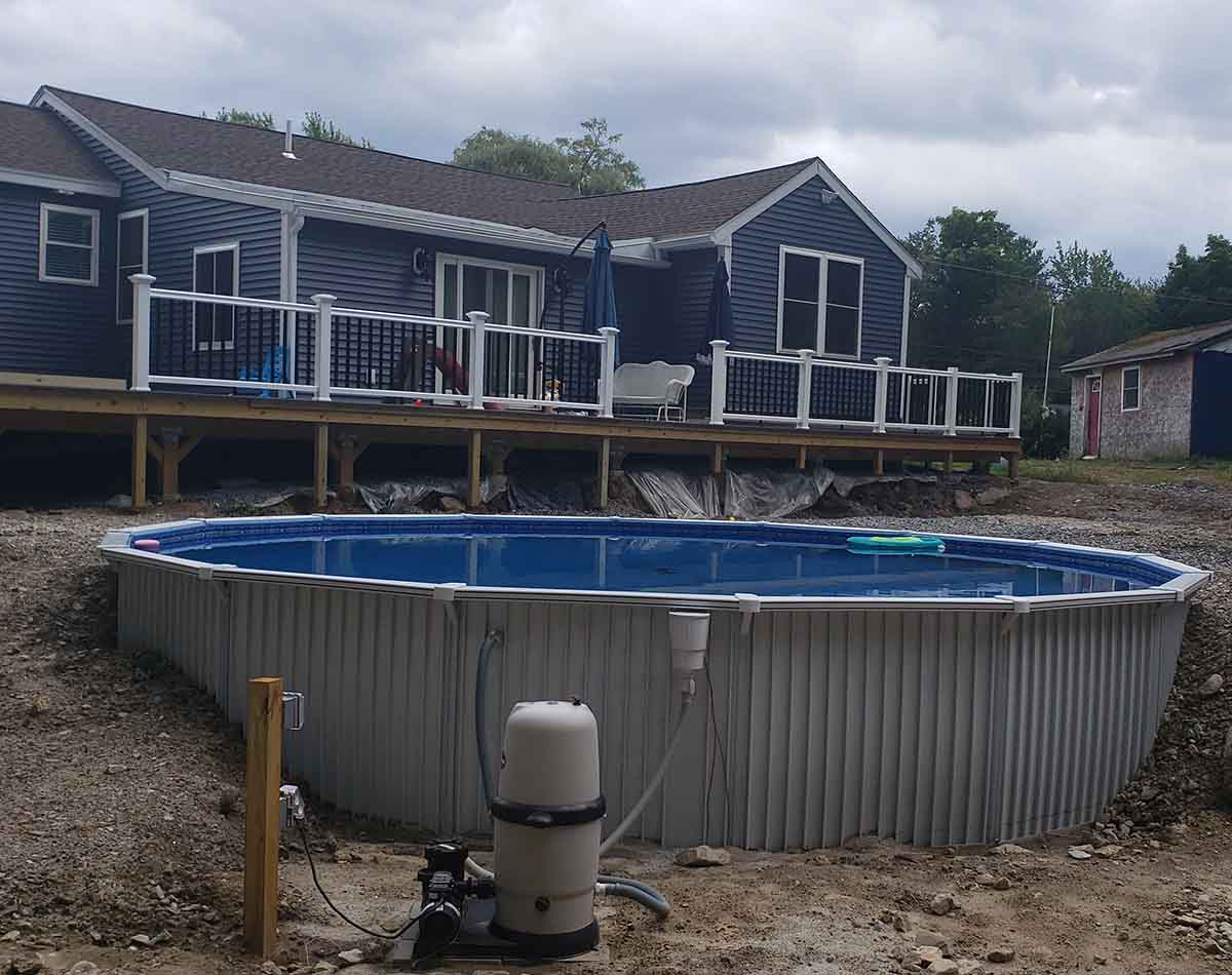 Round Aquasport 52 above ground pool