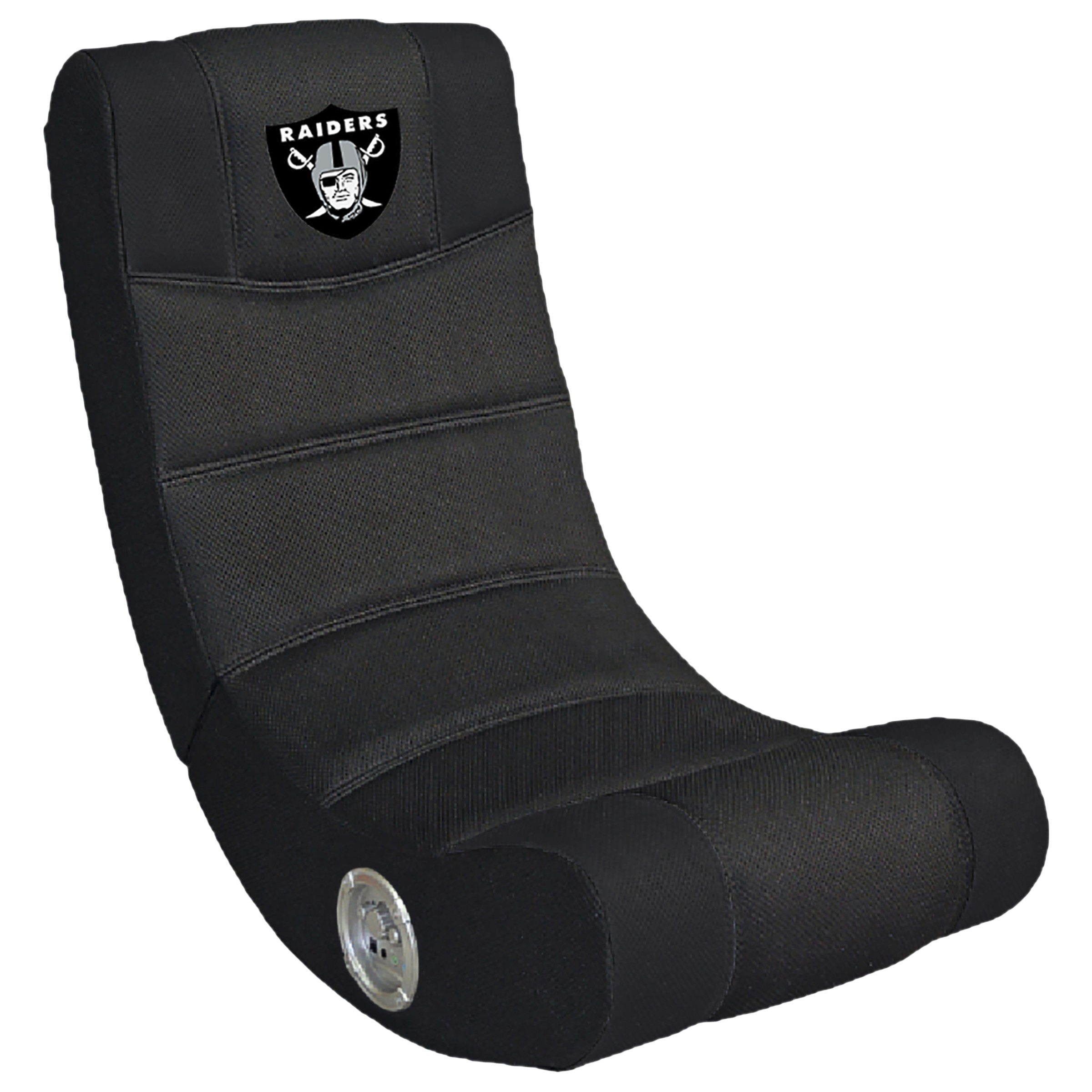 oakland raiders chair cushions for rocking chairs nursery nfl licensed bluetooth video pool tables r us