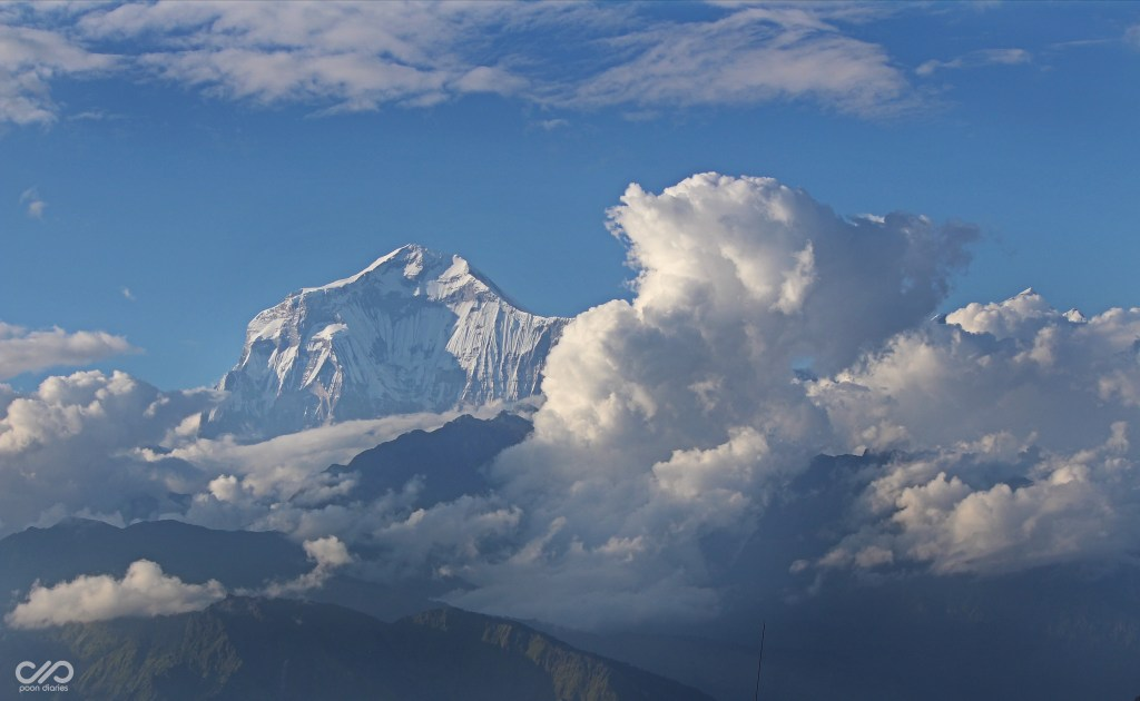 Clouds and the peak