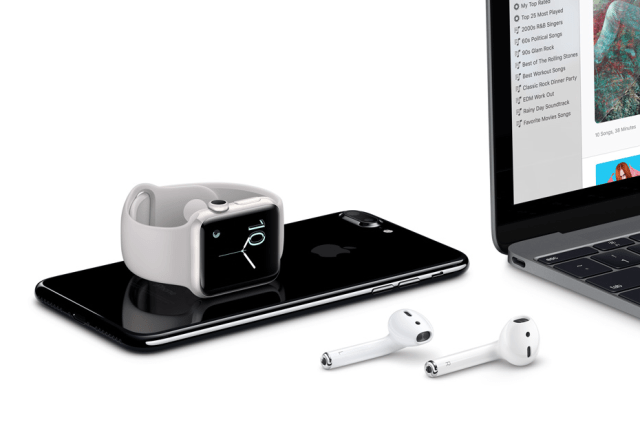 Apple's AirPods connect simultaneously to all your Apple devices through iCloud.