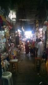 The Bangle Street outside the temple