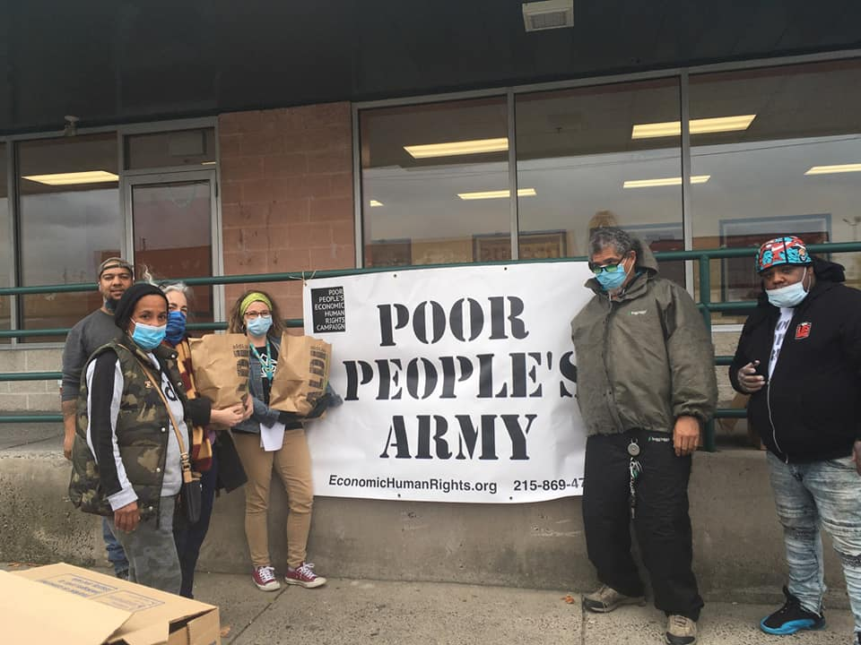 Image of PPEHRC charity food service volunteers in Philadelphia
