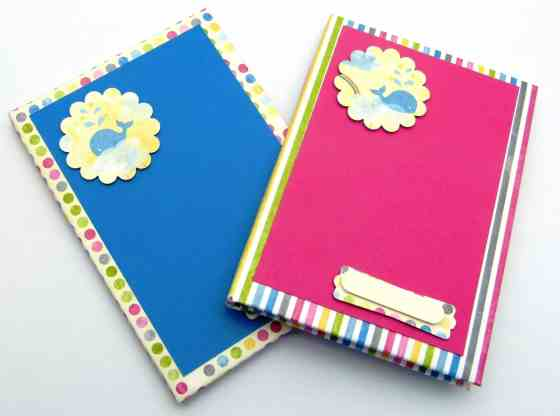 April 2013. How to cover a Hardback Notebook video Tutorial