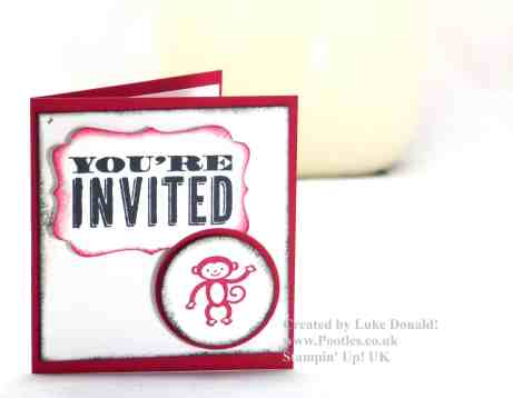 Pootles Stampin Up UK Luke's designed Party Invitations