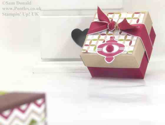 POOTLES Stampin Up UK ADVENT COUNTDOWN 5 Lidded Box VIDEO 2